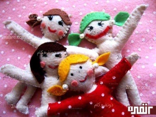 عروسک های نمدی