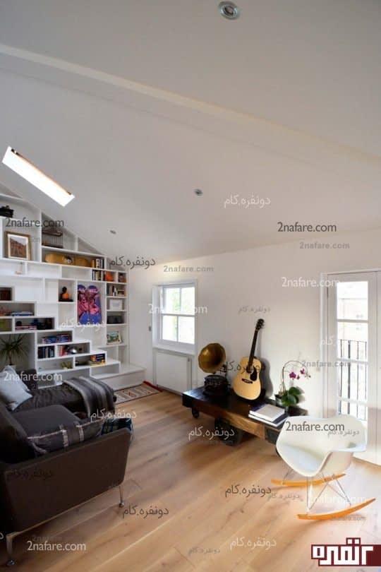 اتاق نشیمن صمیمی و زیبا