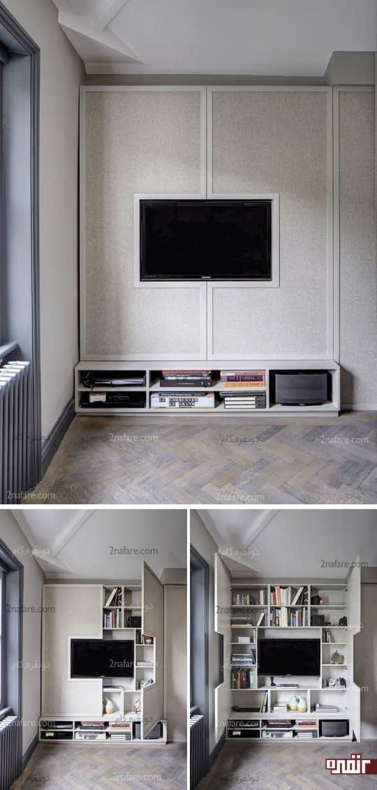 قفسه های روی دیوار محل مناسبی برای قرارگیری وسایل مختلف