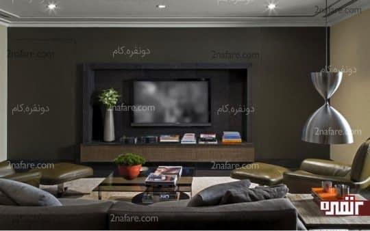 نصب تلویزیون در قابی داخل دیوار