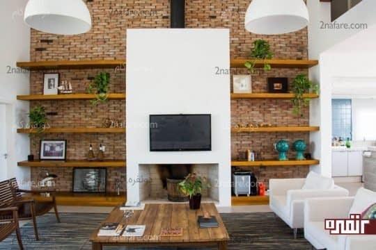 ایده های زیبا برای طراحی دیوار پشت تلویزیون