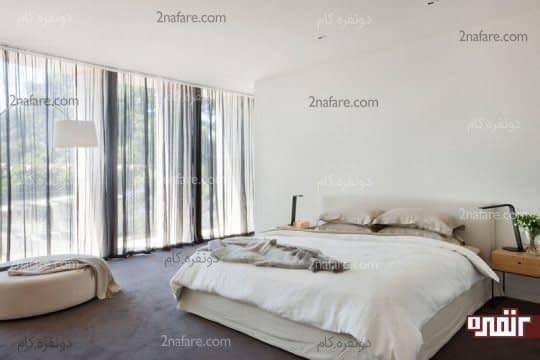 انتخاب رنگ سفید برای دکوراسیون اتاق خواب
