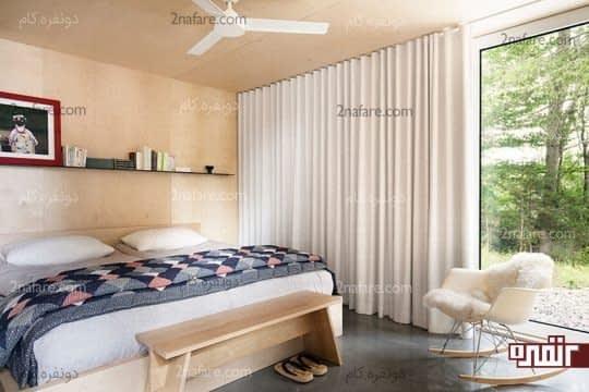 پرده های سفید اتاق خواب