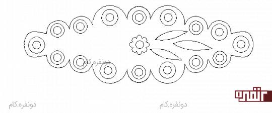 رومیزی بیضی نمدی آموزش رومیزی نمدی بیضی شکل • دونفره