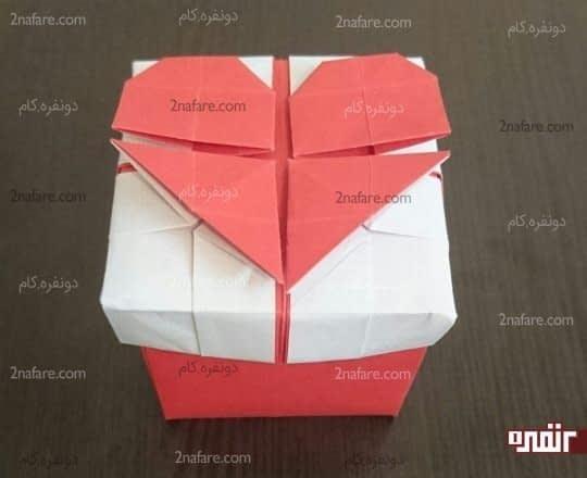 جعبه اوریگامی ولنتاین