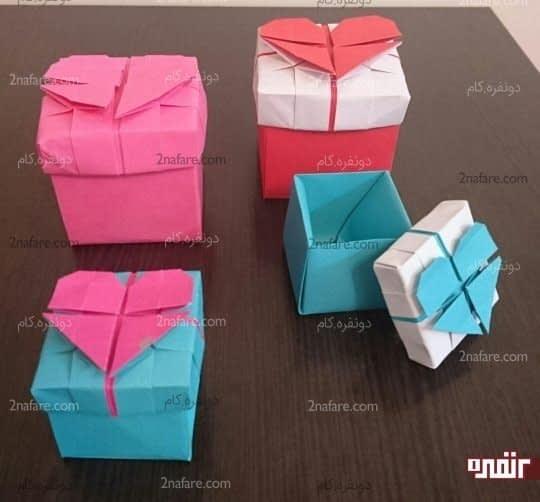 جعبه قلب اوریگامی