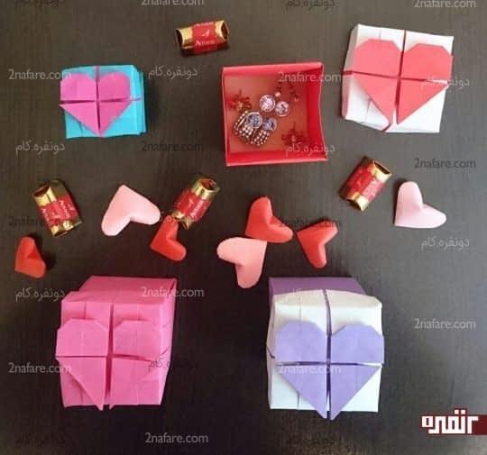 جعبه های قلب زیبا