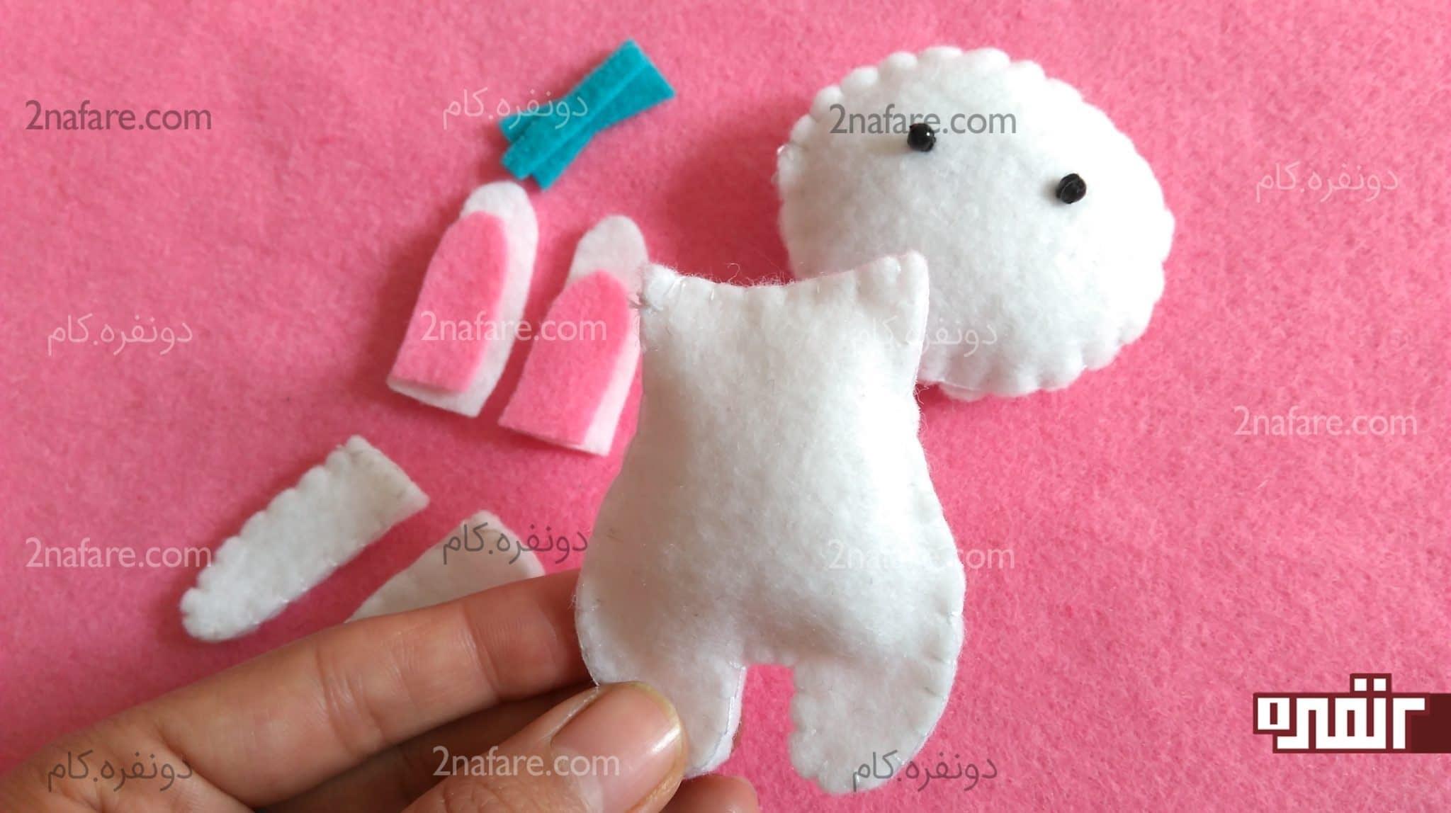طریقه وصل سر عروسک نمدی به بدن آموزش ساخت عروسک خرگوش نمدی برای هدیه پول • دونفره