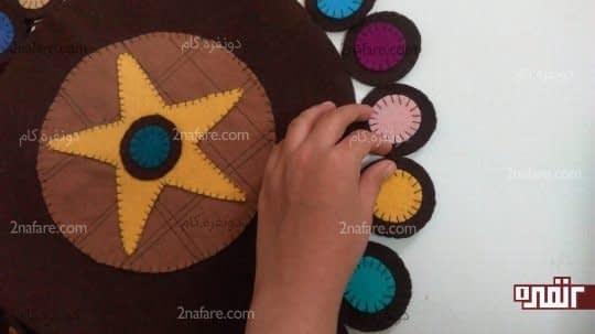 دوختن دایره ها از کنار به هم