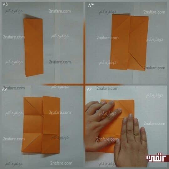 مربعی که درست شده را به سه قسمت مساوی تقسیم کنید