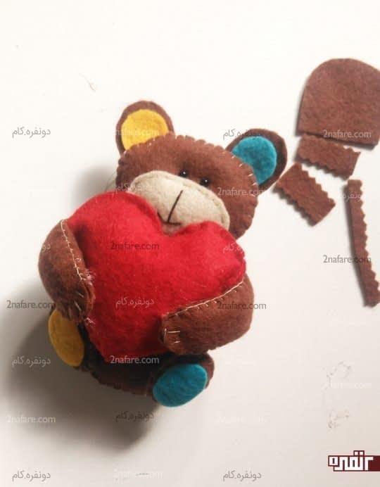 چسباندن قلب خرس