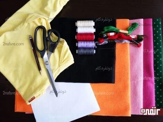 وسایل مورد نیاز برای تزئین نمدی لباس