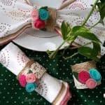 آموزش ساخت حلقه دستمال سفره با رول دستمال کاغذی