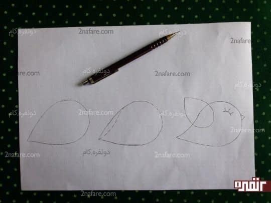 رسم الگوی گنجشک