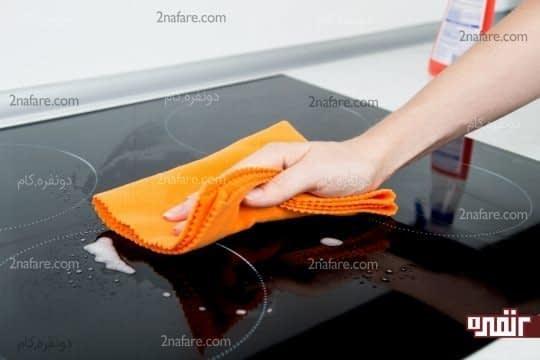 تمیز کردن اجاق گاز