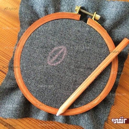 آموزش گلدوزی نوعی برگ