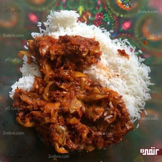 مخلوط کردن مایه و برنج