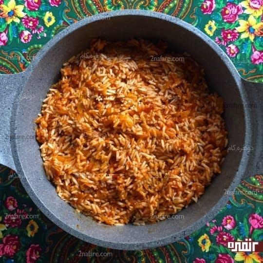دم کردن برنج