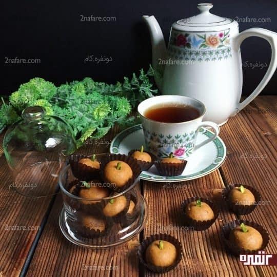 برشتوک با آرد نخودچی