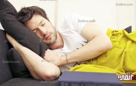 قرار گرفتن سر بالاتر از بدن هنگام خواب