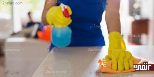پیشخوان آشپزخانه رو به طور منظم تمیز کنید