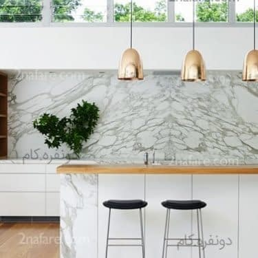 ایده هایی بکر از کاربرد سنگ مرمر در دکوراسیون آشپزخانه
