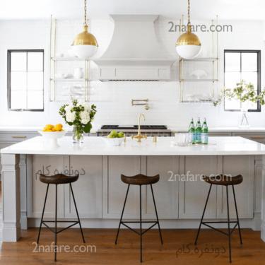 جایی برای نشستن در فضای آشپزخانه