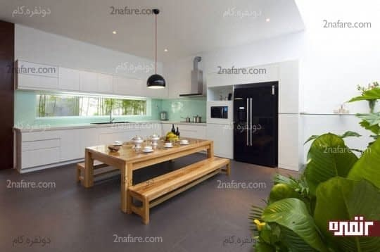 پنجره ی آشپزخانه و ایجاد فضایی دلباز و زیبا