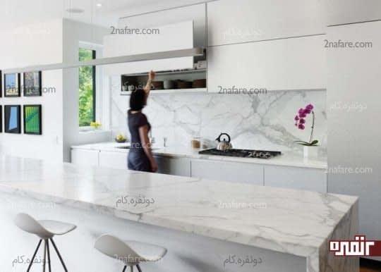 کاربرد سنگ مرمر در فضای آشپزخانه