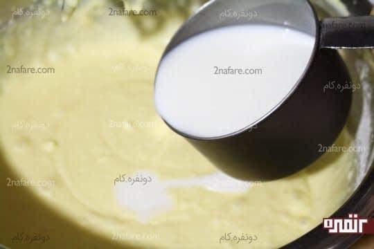 اضافه کردن تدریجی شیر