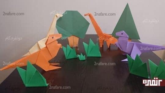 دایناسورها در جنگل