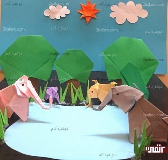 فیل ها در جنگل