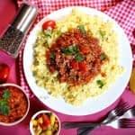 پاستا با راگو گوشت مرحله به مرحله