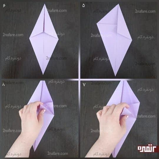 کار را بچرخانید تا مثلث کوچک در بالا قرار بگیرد