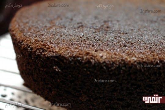 بافت کیک شیفون موکا بعد از پخت