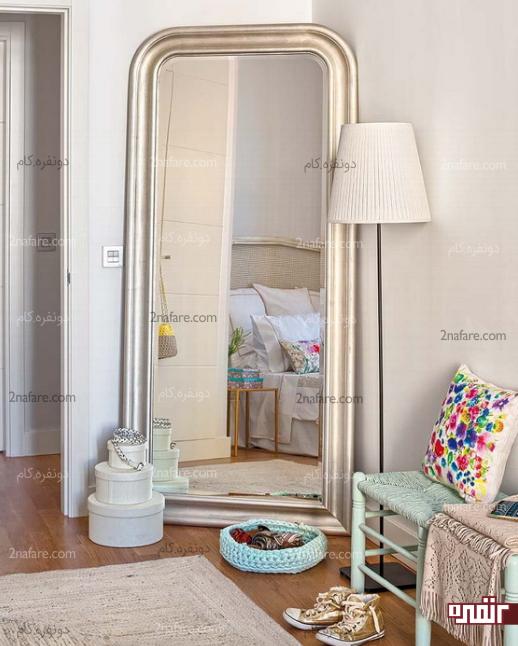 ایجاد کنجی زیبا در اتاق خواب با آینه ها