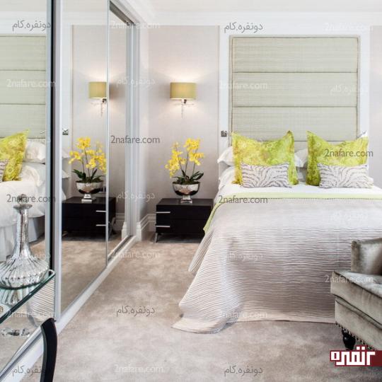 آینه انتخابی متفاوت و عالی برای اتاق خواب