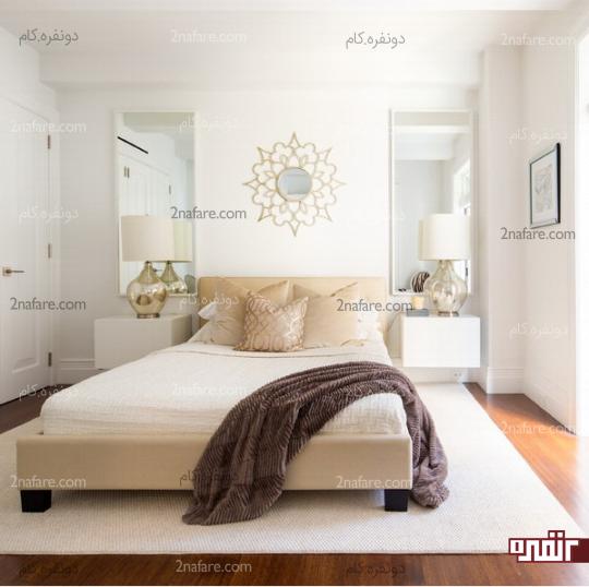 دکور زیبای اتاق خواب با آِینه ها