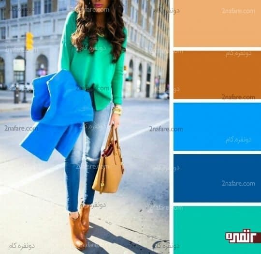 ترکیب با آبی