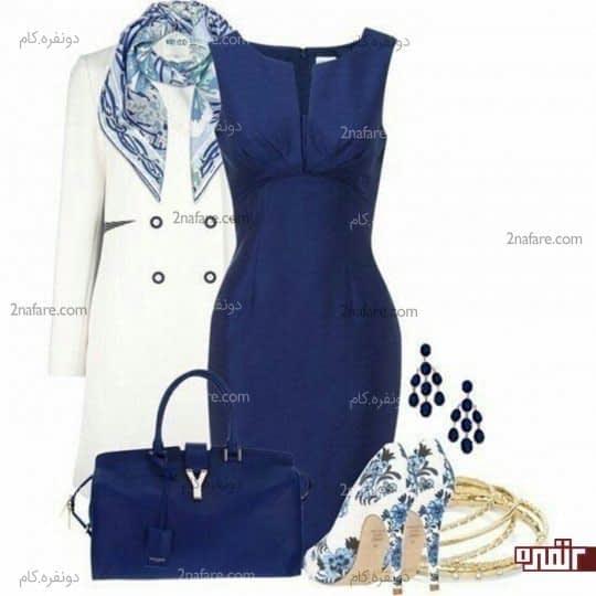 ترکیب لباس رنگ آبی