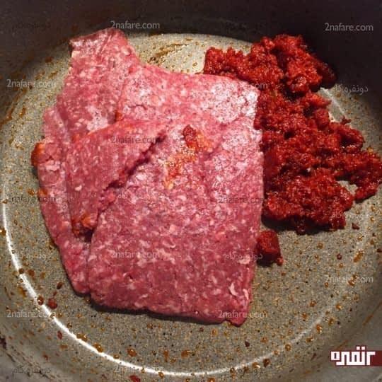 تفت دادن گوشت