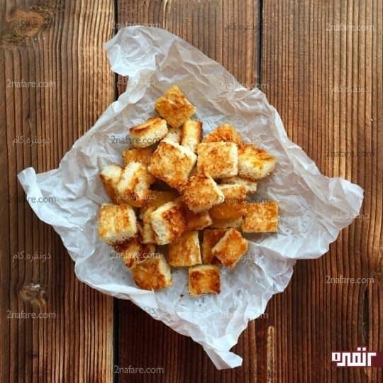 طرز تهیه نان سالاد با طعم سیر