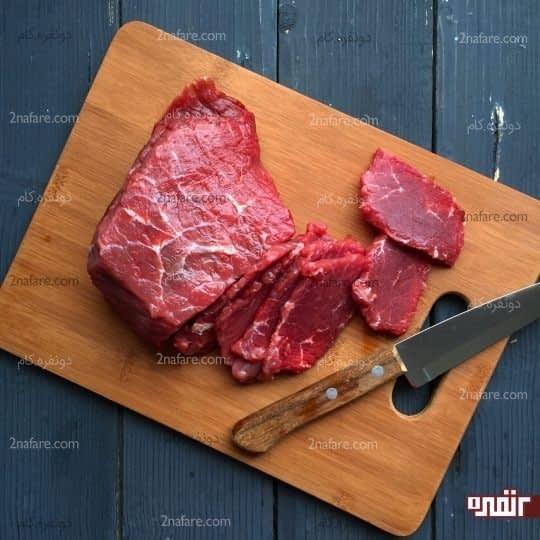 ورقه کردن گوشت