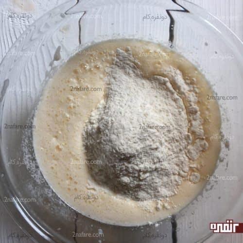 اضافه کردن مواد خشک