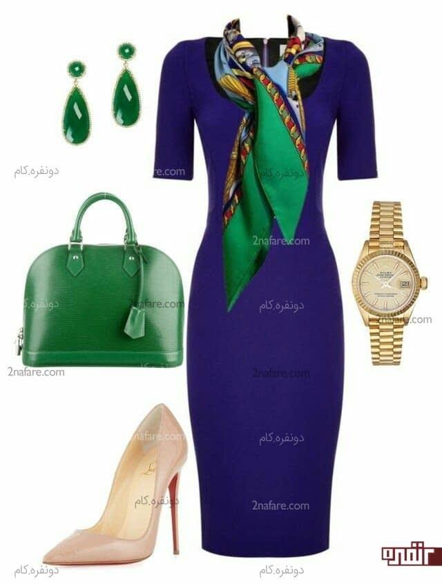 رنگ سال 96بنفش یا سبز لباس آبی رو با چه رنگهایی ست کنیم؟ • دونفره