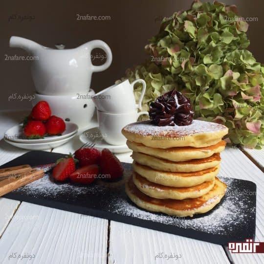 پنکیک برای صبحانه