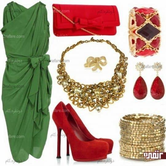 رنگ مکمل سبز و قرمز