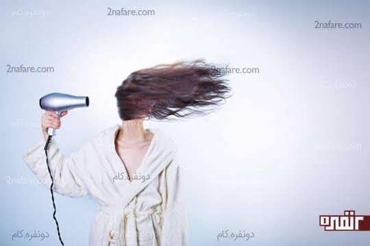 استفاده ی بیش از اندازه از سشوار و ریزش موها