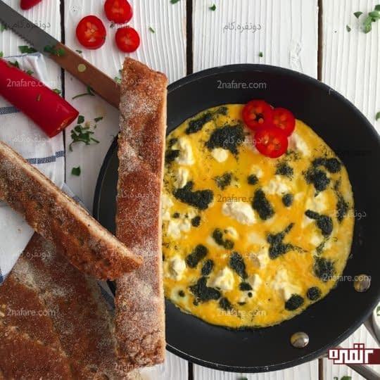 املت پنیر و شوید
