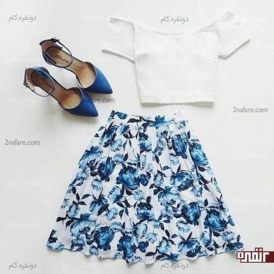 سفید و آبی